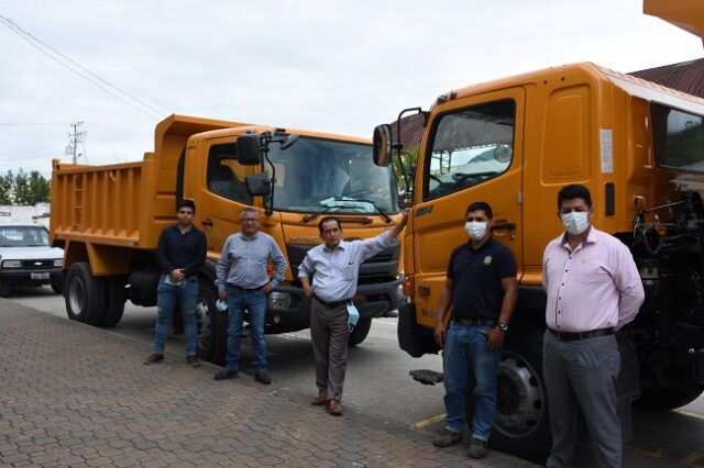 Actualmente la municipalidad viene realizando 500 km de mantenimiento vial en todo el cantón.