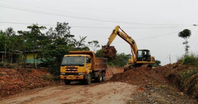 En esta etapa serán intervenidos 1.3 kilómetros, y al momento VIALZACHIN trabaja en la excavación de terreno etc.